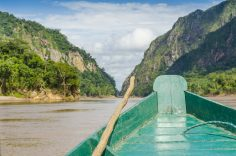Travelling by boat in the Bolivian Amazon
