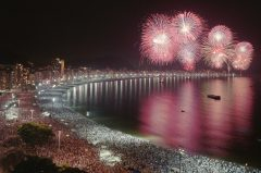 Rio de Janerio Copacabana New Year celebrations used for 30th an